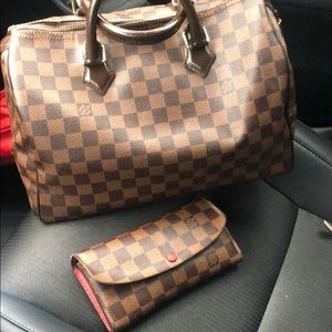 Louis Vuitton speedy 30 And emilie wallet